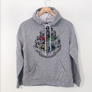 HARRY POTTER Gray Hoodie With Front Pouch